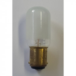 Light bulb universal B 15 220V 15W tube standard