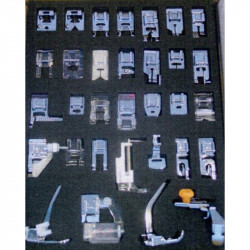 Presser feet BROTHER : kit with 32 accessories