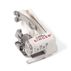 Presser feet SINGER 3860 lateral cutter for overlocking with graduation : sole and low holder