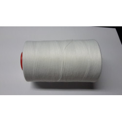 Sewing thread on reel, length: 5000 yards (4571 m) white