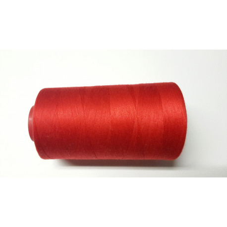 Sewing thread on reel, length: 5000 yards (4571 m) red
