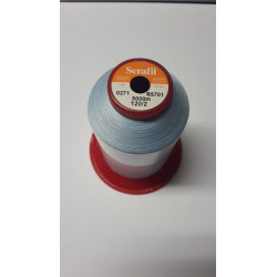 Sewing thread Serathread on reel of 5000 meters : blue 271