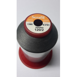 Sewing thread Serathread on reel of 5000 meters : gris 1360