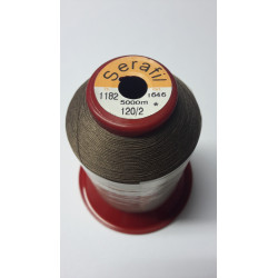 Sewing thread Serathread on reel of 5000 meters : brown 1182