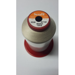 Sewing thread Serathread on reel of 5000 meters : brown 326