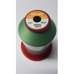 Sewing thread Serathread on reel of 5000 meters : green 251