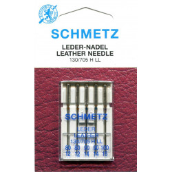 Needle 130 705 HLL leather in set of  5