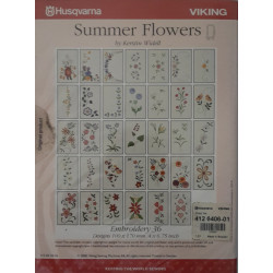 Carte de broderie Husqvarna d-Card 36 Summer Flowers