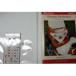 Carte de broderie Husqvarna d-Card 42 Happy Holidays from Patrick Lose