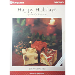 Carte de broderie Husqvarna d-Card 110 Happy Holidays