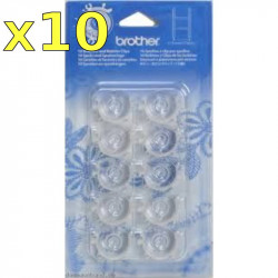 Bobbin Brother NV I (plastic) with clips (set of  10)
