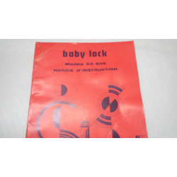 Manual for Babylock EA-605 (French)