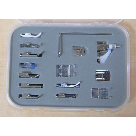 Presser feet AEG : kit with 15 accessories