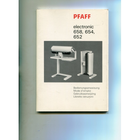 Instruction Manual Pfaff 580/560