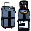 Transport briefcase universal on wheels for sewing machine and overlock