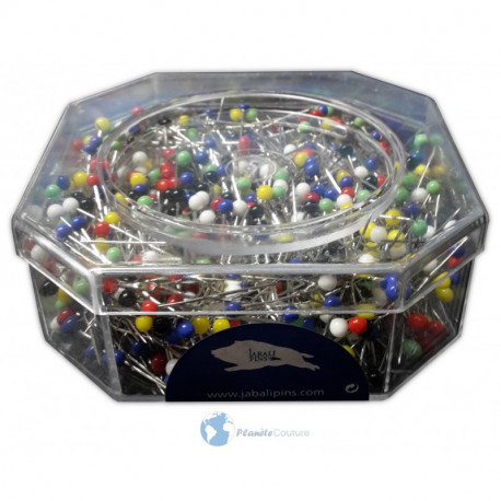 Colored head pins 32 mm  (box of 1000)