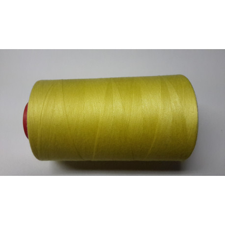 Sewing thread on reel, length: 5000 yards (4571 m) yellow