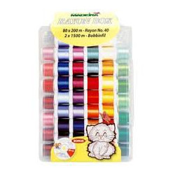 Box of thread embroidery Madeira of 82 reels of 200 m
