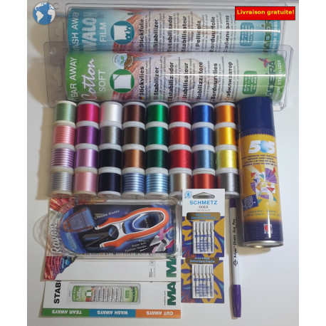 Starter kit embroidery machine n°3 Confirme