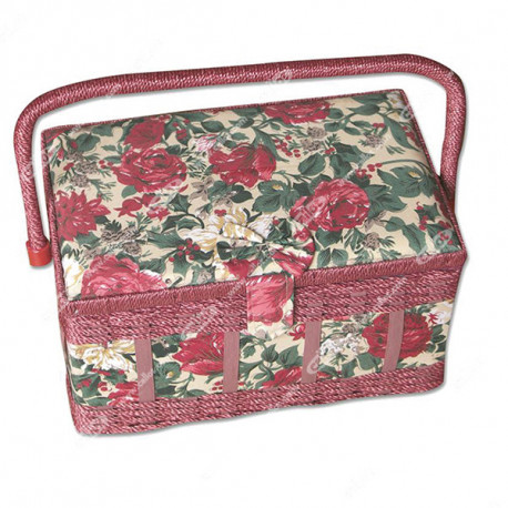 Sewing box luxe color red