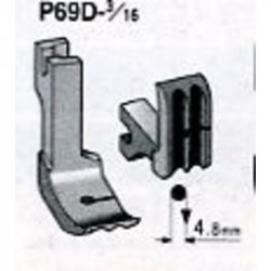 Pied industrie passepoil double 4.8 mm