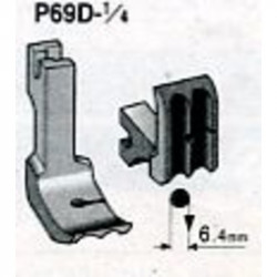 Pied industrie passepoil double 6.4 mm