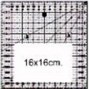 Ruler for quilting 16 x 16 cm