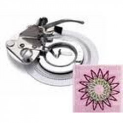 Pied BROTHER broderie circulaire Flower Stitcher : semelle + support bas