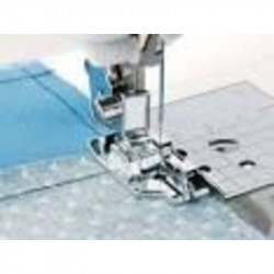 Pied BROTHER quilting 1/4 pouce avec guide : semelle clic